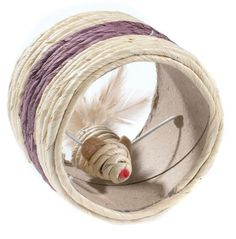 Cat Kitten Scratch Scratching Sisal Wheel Play Toy with Mouse  #Classic