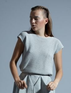 The Natural Store – KOMMENT Hand Knitted Soy Silk Top (Twilight)