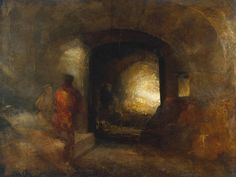 turner paintings tate | Joseph Mallord William Turner, 'Figures in a Building' c.1830-5