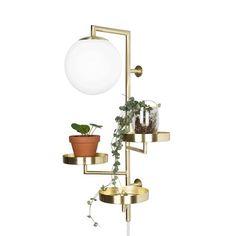 Vägglampa Astoria, 62x30x27 cm, mässing
