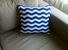 Crochet Ripple Cushion Cover