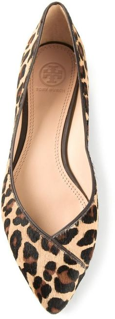 Tory Burch leopard coconut ballerinas on shopstyle.com