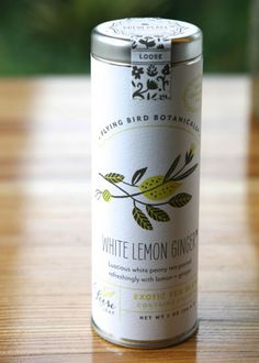 white lemon ginger tea, fine loose leaf exotic tea crafted with only organic teas and herbs