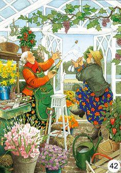 Groothandel Postkaarten van Inge Look number 42 Old Lady Humor, Illustration Noel, Look Older, Whimsical Art, Old Women, Illustrators, Folk Art, Artsy, Drawings