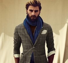 Ridiculous scarf, but awesome casual blazer.
