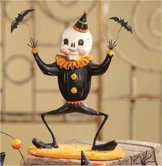 Bethany Lowe Batty Skeleton Circus Day of the Dead Halloween Figurine JP1160 | eBay