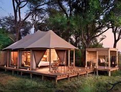 Nxabega Camp's tented accommodation