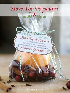 Christmas Pot Pourri add to a Pam of water on your stove top