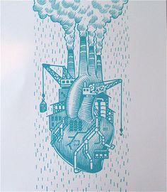 Love Factory Heart Print Bourbon & Boots