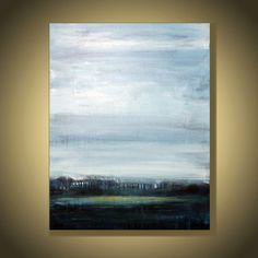Large 40x30 inches Abstract Seascape  by AIDACONTEMPORARYART