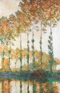 Peupliers by Monet