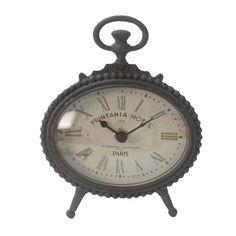 American Mercantile Metal Table Clock & Reviews | Wayfair