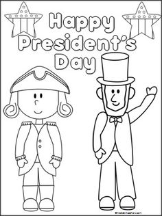 This is a President's Day coloring page available FREE on Madebyteachers.com.