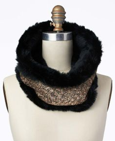 Faux Fur and Lace Infinity Scarf #ATHauteHoliday