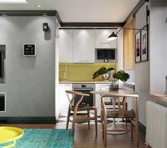 В стандартной малогабритной двушке дизайнер обустроила стильный и функциональный интерьер: здесь появилась гардеробная в спальне, удобная кухня-гостиная и даже небольшая зона отдыха на балконе