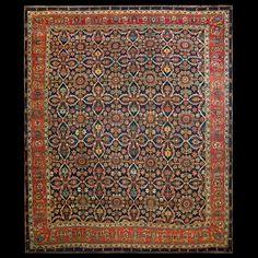 Bijar Rug - 22094   Persian Informal 12' 0'' x 14' 2''   Multi, Origin Persia…