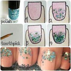Sparkle Nails tutorial