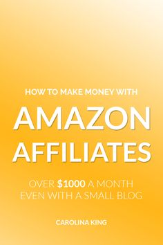 Want to start making Amazon affiliate sales with a small blog? Carolina goes over how she's able to make over $1,000 per month with just 10K page views. And that amount grows as her blog does! Click through for step by step instructions on how you can get the most out of being an Amazon affiliate and start making money from home! #aff