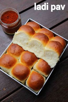 pav recipe, ladi pav, homemade pav, eggless pav bread recipe with step by step photo/video. indian style bread recipe made with plain flour and dry yeast Bakery Recipes, Snack Recipes, Cooking Recipes, Yummy Recipes, Yummy Food, Bhurji Recipe, Pao Bhaji Recipe, Pao Recipe, Vada Pav Recipe