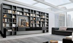Spacious Living Room Idea Wall System  Home Furniture Ideas