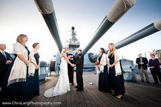 Wedding aboard the Battleship courtesy of Chris Lang Photography