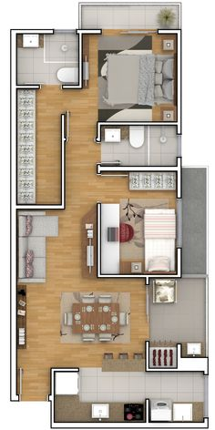 apartment floor plans To see more Visit House Floor Design, Modern House Floor Plans, Sims House Plans, House Layout Plans, House Layouts, Small House Plans, Apartment Layout, Apartment Design, Modern Small House Design
