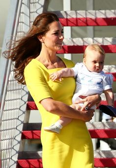 thebritishnobility:  Cambridge Royal Tour-Day 8, Sydney, Australia, April 16, 2014-The Duchess of Cambridge and Prince George