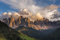 Hans Kruse Photography  Val di Funes sunset.    This photo was taken during a photo tour that I led in the Dolomites October 2012.