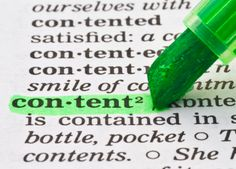 Content is the information you convey to your visitors on your website.