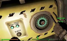Fallout 4 - How to Find and Recharge Fusion Cores Fallout Art, Fallout New Vegas, Fallout 4 Secrets, Gaming Facts, Game Quotes, Game Guide, Elder Scrolls, Skyrim, Fujifilm Instax Mini