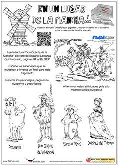 En un lugar de la mancha 1 Spanish Classroom, Teaching Spanish, Dom Quixote, Spanish Art, Lesson Plans, How To Plan, Education, Comics, Learning