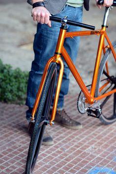 "BRN Fixed Bike - Orange ""Cromovelata"" www.bernardisrl.net"