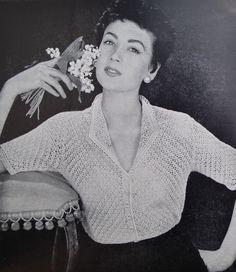 Vintage Needlecraft Magazine 1950s Sewing Crochet Knitting Patterns 50s - Needlewoman and Needlecraft No 55 July 1953 - original patterns