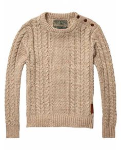 Cable Knitted Crew Neck Pull > Mens Clothing > Pullovers at Scotch & Soda - Official Scotch & Soda Online Fashion & Apparel Shops