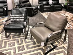 100% leather, 100% stylish, & 100% comfy!  It's our Karik Occasional Chair!