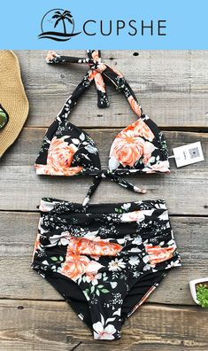 Have some fun in the sun. Get a fresh start. Cupshe can give you best of the best. Cute soft piece as Cupshe Faint Fragrance Print Bikini Set! Take it for summer beach trip for best fit and look.