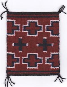 Miniature Revival Rug by Louise Yazzie (Navajo) Navajo Weaving, Navajo Rugs, Native American Blanket, Native American Indians, Museum Shop, American Indian Art, Native Indian, Weaving Patterns, Woven Rug