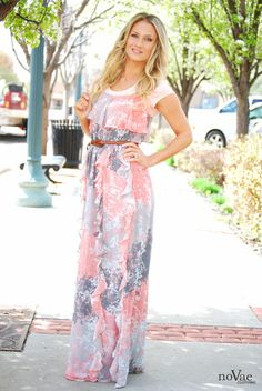 Loving this WaterFall Maxi dress!  Super feminine! Enter to win $100 gift card to Novae Clothing at www.howdoesshe.com