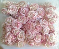 3 flowers branchs 36 pink paper flowers pink change 3 and colors 50 l pink artificial mulberry paper rose flower wedding thailand dai 5cm mightylinksfo Gallery