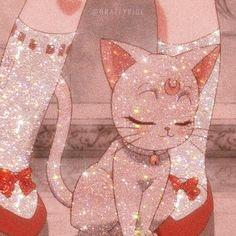 Cartoon Kunst, Cartoon Icons, Cartoon Art, Sailor Moon Aesthetic, Aesthetic Anime, Cute Cartoon Wallpapers, Animes Wallpapers, Anime Cat, Kawaii Anime