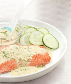 Salmon with a Mustard Dill Sauce - super yummy, husband and baby LOVED it!