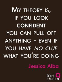 #confidence not sure I agree but it's still a pretty great quote. confidence boost, confidence quotes, becoming confident #confidence #confident