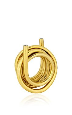 Line Ring With Diamonds by ELENA VOTSI for Preorder on Moda Operandi