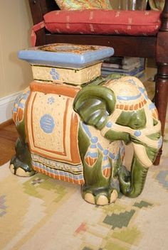 Elephant End Table.