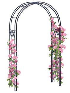 Garden Arch Trellis, Rose Trellis, Garden Arches, Garden Arbor, Easy Garden, Garden Edger, Arbors Trellis, Garden Beds, Metal Arbor