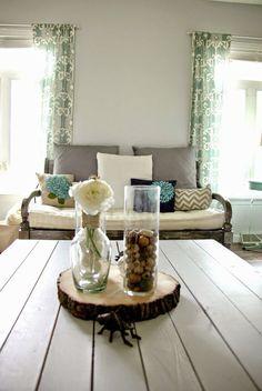 Gray Living Room Home Decor Turquoise Diy