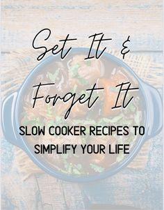 Crock Pot Food, Crockpot Dishes, Crock Pot Slow Cooker, Slow Cooker Recipes, Crockpot Recipes, Cooking Recipes, Slow Cooking, Vintage Recipes, Air Fryer Recipes