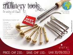 Flower making tools (electric) #millinery #judithm #hats