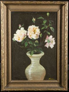 William Machen still life of roses