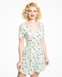 523762d3df8e  Clarice  Mint Green Sushi Print Playsuit 1950s Inspired Fashion
